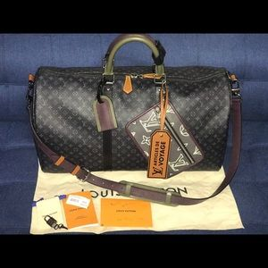 Authentic Louis Vuitton patchwork eclipse keepall